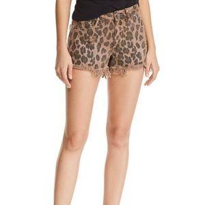 NWT Blank NYC leopard print denim shorts